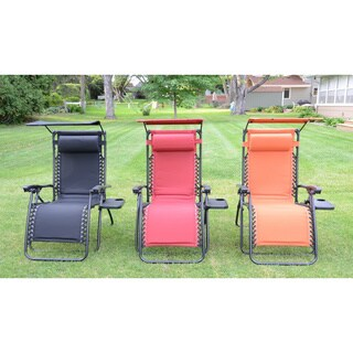 Styled Shopping Deluxe Padded Zero Gravity Chair with Canopy and Tray (2 options available)