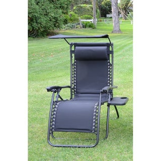Styled Shopping Deluxe Padded Zero Gravity Chair with Canopy and Tray (4 options available)