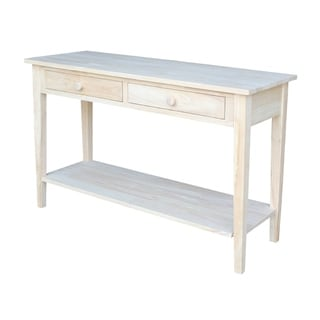 Spencer Unfinished Solid Parawood Sofa Server Table