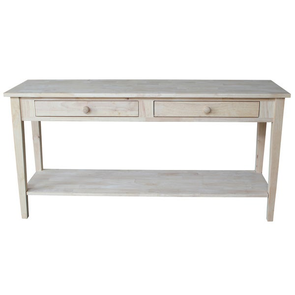 Spencer Unfinished Solid Parawood Sofa Server Table Free