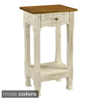 Maison Rouge William Amelia Distressed Rustic Nightstand