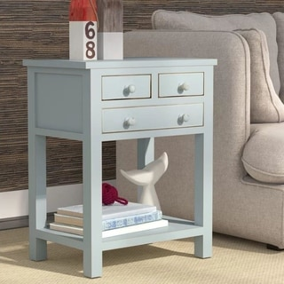 Porthos Home Celeste Three-drawer Wooden Side Table