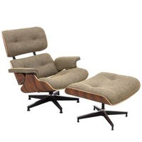 LeisureMod Zane Modern Lounge Chair and Ottoman