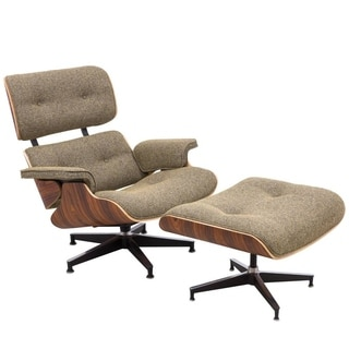 LeisureMod Zane Modern Lounge Chair And Ottoman