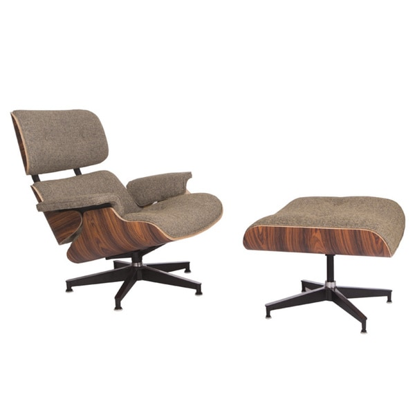Leisuremod Zane Modern Lounge Chair And Ottoman Free