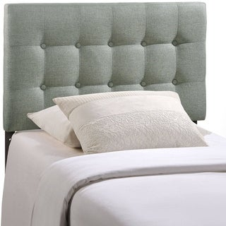 Emily Grey Button-tufted Fabric Twin-size Headboard