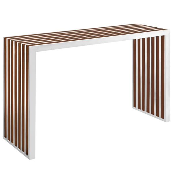 Gridiron Stainless Steel Wood Inlay Console Table Free  : Gridiron Stainless Steel Wood Inlay Console Table be5374c7 f7e1 4325 a597 56cfa23d1652600 from www.overstock.com size 600 x 600 jpeg 16kB
