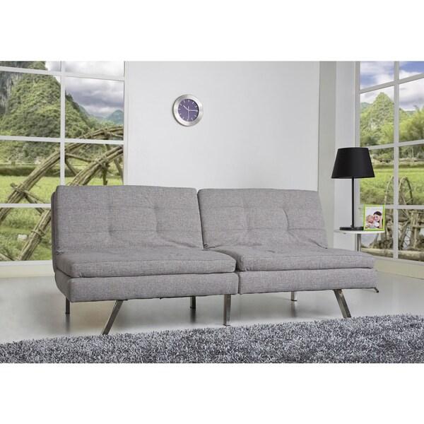 Memphis Ash Double Cushion Futon Sofa Bed