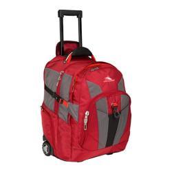 High Sierra Wheeled Backpack Carmine/Red Line/Black