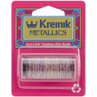 Kreinik Medium Metallic Braid #16 10 Meters (11 Yards)-Golden Cabernet