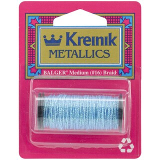 Kreinik Medium Metallic Braid #16 10 Meters (11 Yards)-Blue Grass