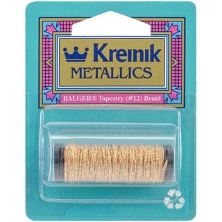 Kreinik Metallic Tapestry Braid #12 10 Meters (11 Yards)-Golden Chardonnay