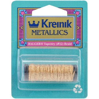 Kreinik Metallic Tapestry Braid #12 10 Meters (11 Yards)-Golden Chardonnay