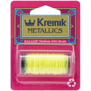 Kreinik Medium Metallic Braid #16 10 Meters (11 Yards)-Lemon Grass