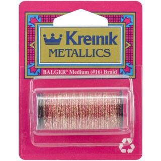 Kreinik Medium Metallic Braid #16 10 Meters (11 Yards)-Golden Pimento