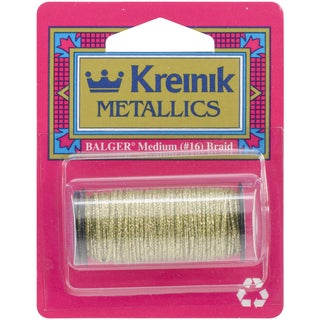 Kreinik Medium Metallic Braid #16 10 Meters (11 Yards)-Golden Olive