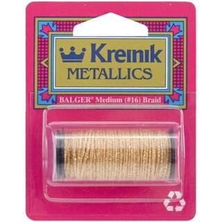 Kreinik Medium Metallic Braid #16 10 Meters (11 Yards)-Golden Chardonnay