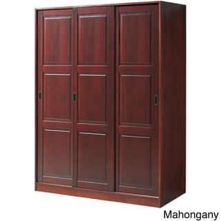 Copper Grove Caddo Solid Pine Three Sliding Door Wardrobe