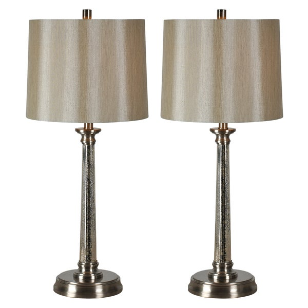 Ren Wil Brooks Nickel Finish 1 Light Table Lamp Set Of 2