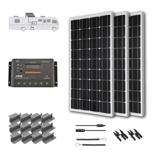 Renogy 300 Watts 12 Volts Monocrystalline Solar RV Kit - Viewstar Charge Controller