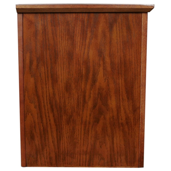 mission oak hardwood 60inch tv stand free shipping today