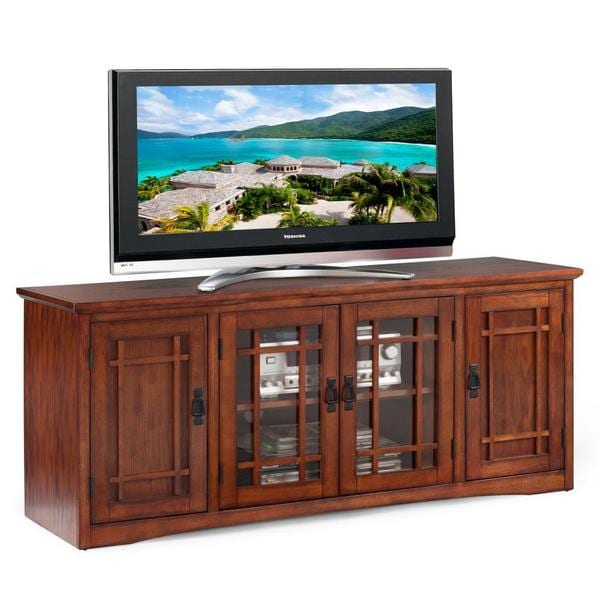 Shop Mission Oak Hardwood 60 Inch Tv Stand Free Shipping Today
