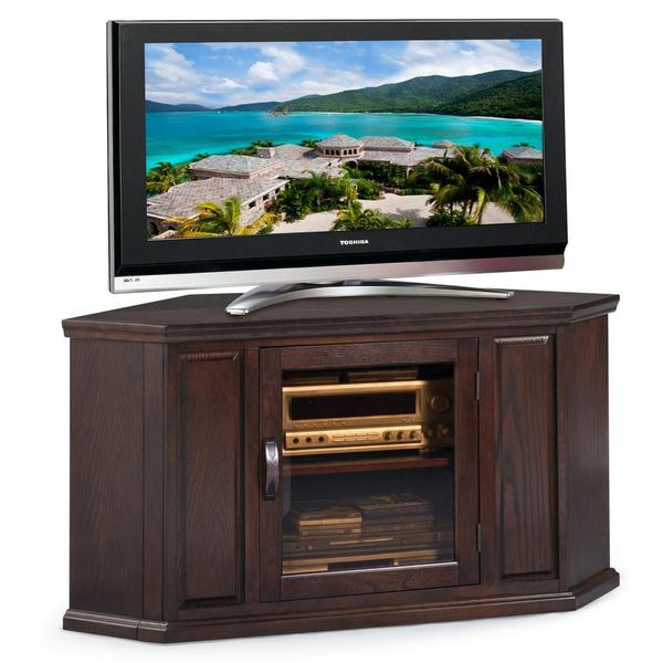 Shop Chocolate Oak 46 Inch Corner Tv Console Free Shipping Today