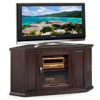 Chocolate Oak 46-inch Corner TV Console