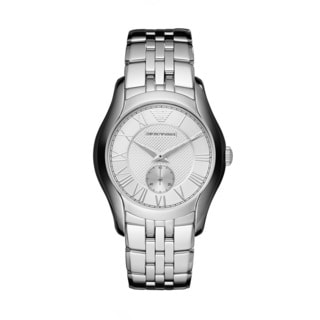 Emporio Armani Men's AR1711 Silvertone Dial Stainless Steel Watch