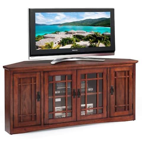Copper Grove Janie Mission Oak Hardwood 57-inch Corner TV Stand