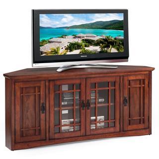 Mission Oak Hardwood 57-inch Corner TV Stand