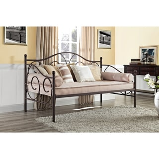 DHP Victoria Finial Detailed Brushed Metal Daybed