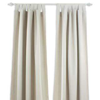 Natural Linen Tab-top 108-inch Curtain Panel