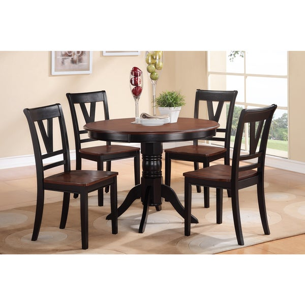 Cherry Wood Dinette Sets: Shop Alstermo Cherry Wood Finish 5-piece Dining Set