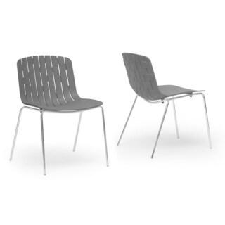 Baxton Studio Florissa Plastic Modern Dining Chairs (Set of 2)