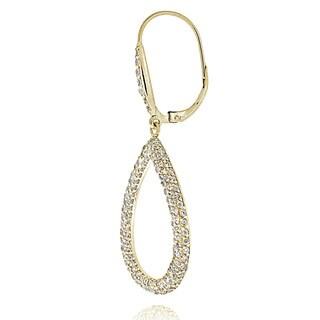 ICZ Stonez Sterling Silver 2.66ct TGW Cubic Zirconia Teardrop Dangle Earrings