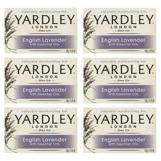 Yardley English Lavender with Essential Oils 4.25-ounce Bar Soap (Pack of 6)