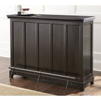 Greyson Living Garrison Black Home Bar with Foot Rail