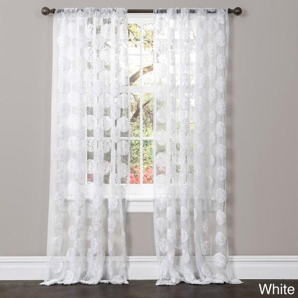 Shop Lush Decor Arlene Sheer Curtain Panel Free Shipping