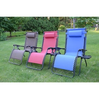 Styled Shopping Oversized Extra Large Zero Gravity Chair with Canopy and Tray
