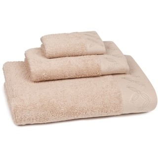 Cypress Block Embroidered 3-piece Towel Set