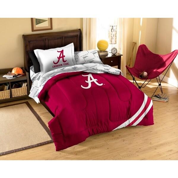 The Northwest Company University of Alabama Crimson Tide 7-piece  Bed in a Bag Set