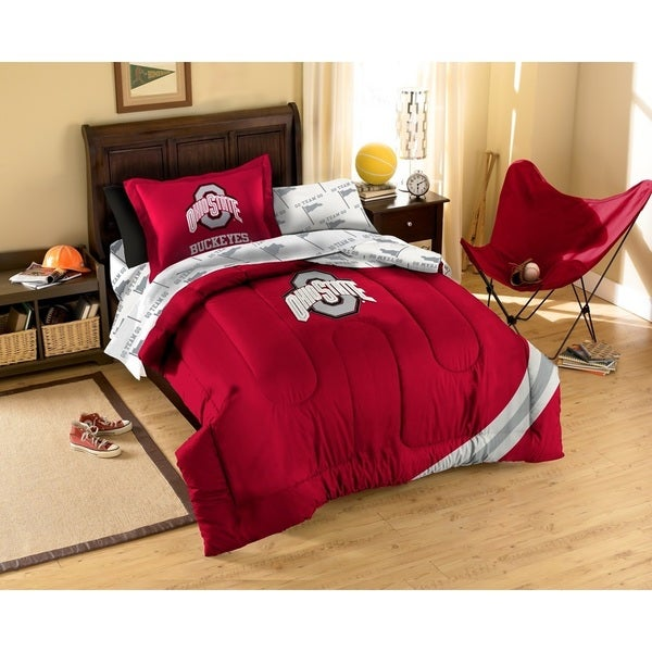 The Northwest Company The Ohio State University Buckeyes 7 Piece Bed In A  Bag Set