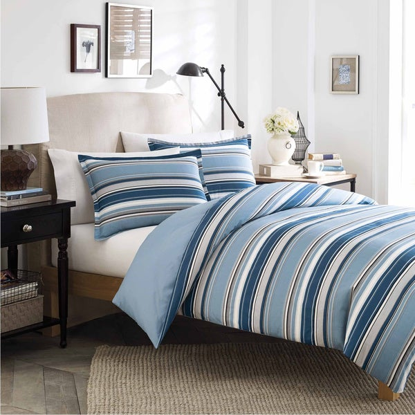 Stone Cottage Fresno Blue Cotton 3-piece Duvet Cover Set