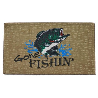 'Gone Fishing' Indoor Mat
