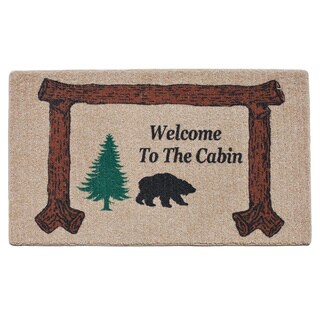 'Welcome to the Cabin' Indoor Mat