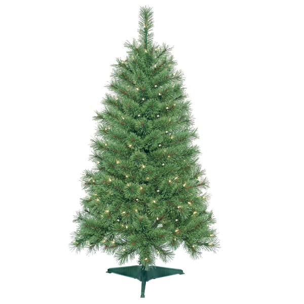 Shop 4 Foot Pre Lit Artificial Christmas Tree Free