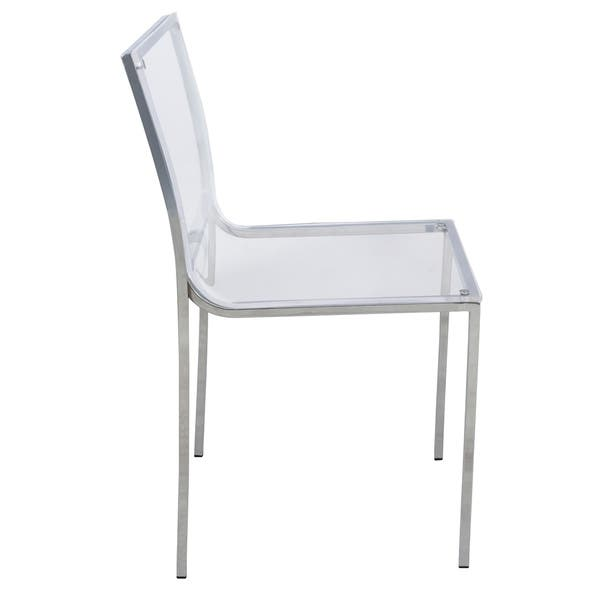 Leisuremod Almeda Lucite Acrylic Clear Dining Side Chair Set Of 2 Overstock 9283607