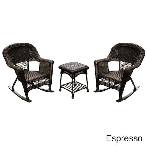 3-piece Rocker Wicker Chair Set