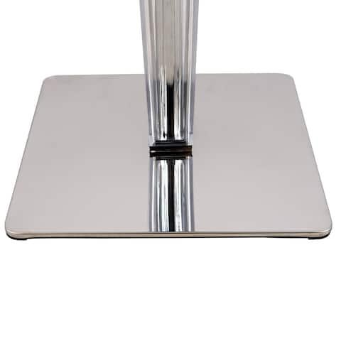 LeisureMod Glen Modern MDF White Dining Table - White/Chrome